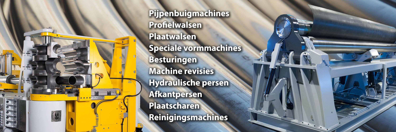 J. Venema B.V. | Pijpenbuigmachines | Profielwalsen | Plaatwalsen | Speciale vormmachines | Besturingen | Machine revisie | Hydraulische persen | Afkantpersen | Plaatscharen | Industriële reinigingsmachines